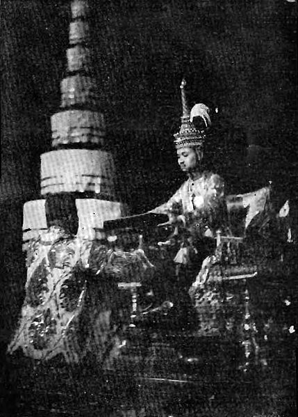 King Rama VII signs Thailand's first codified constitution on 10 December 1932 (photo by Keson Bunnak, from Wikipedia)