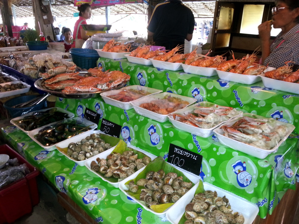 Seafood at Khlong Lat Mayom floating market, Bangkok