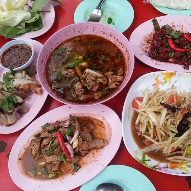 Somtum and other Isaan foods