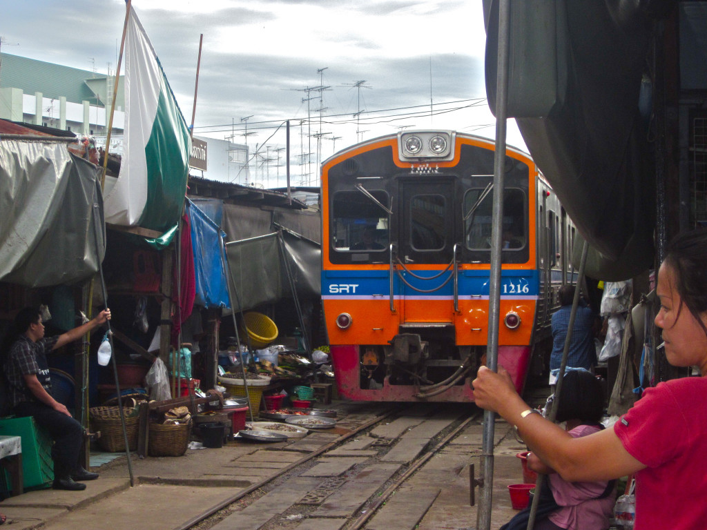 Mae Klong railway market - photo by Chris Wotton