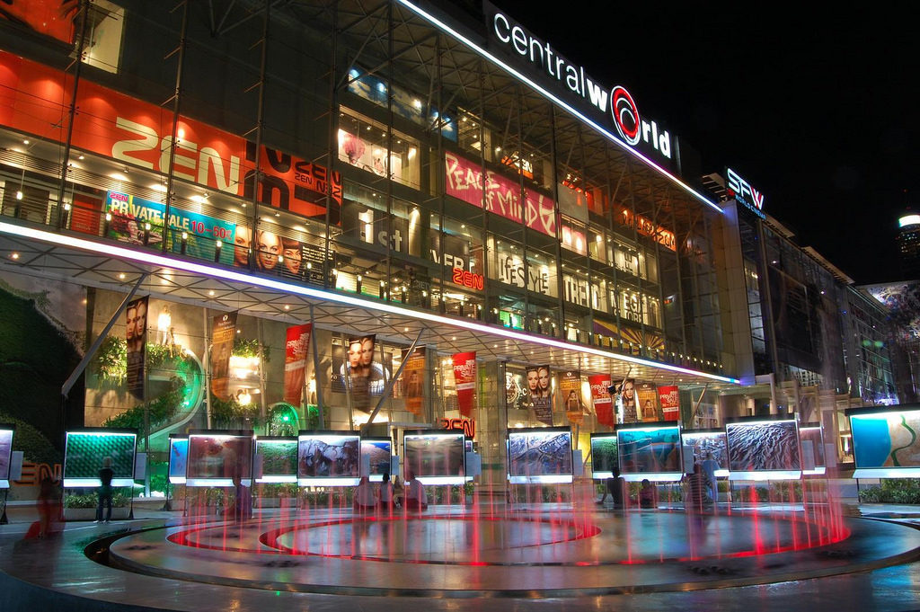 Central World shopping centre mall in Bangkok, Thailand - photo by Adam Lai