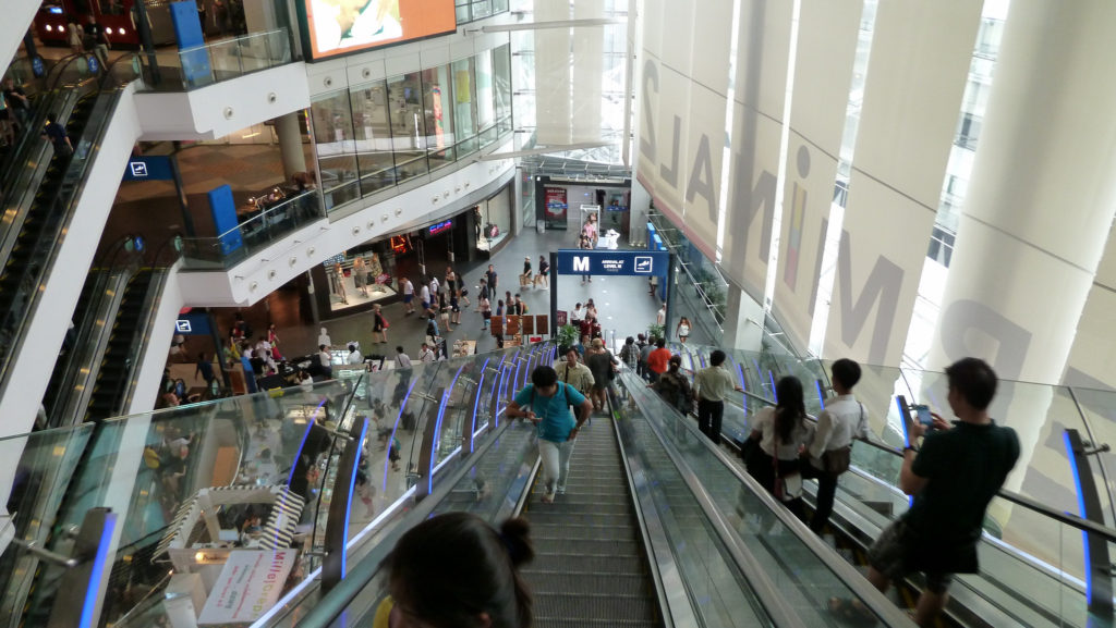 Terminal 21 shopping centre mall in Bangkok, Thailand - photo by Dushan Hanuska