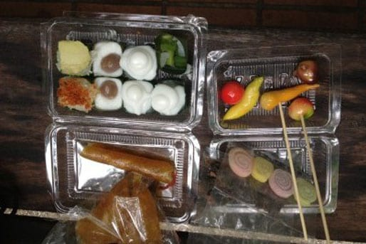 A selection of Thai snacks