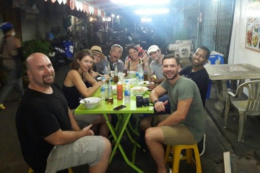 Guests discovering hidden place on a Bangkok food tour