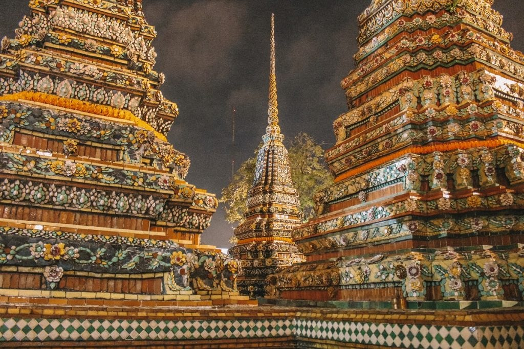Wat Pho at night is stunning