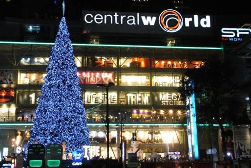Christmas tree at Central World