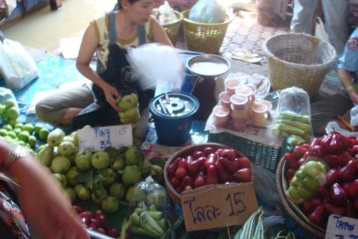 Fruit at Lamphaya floating market in Nakhon Pathom