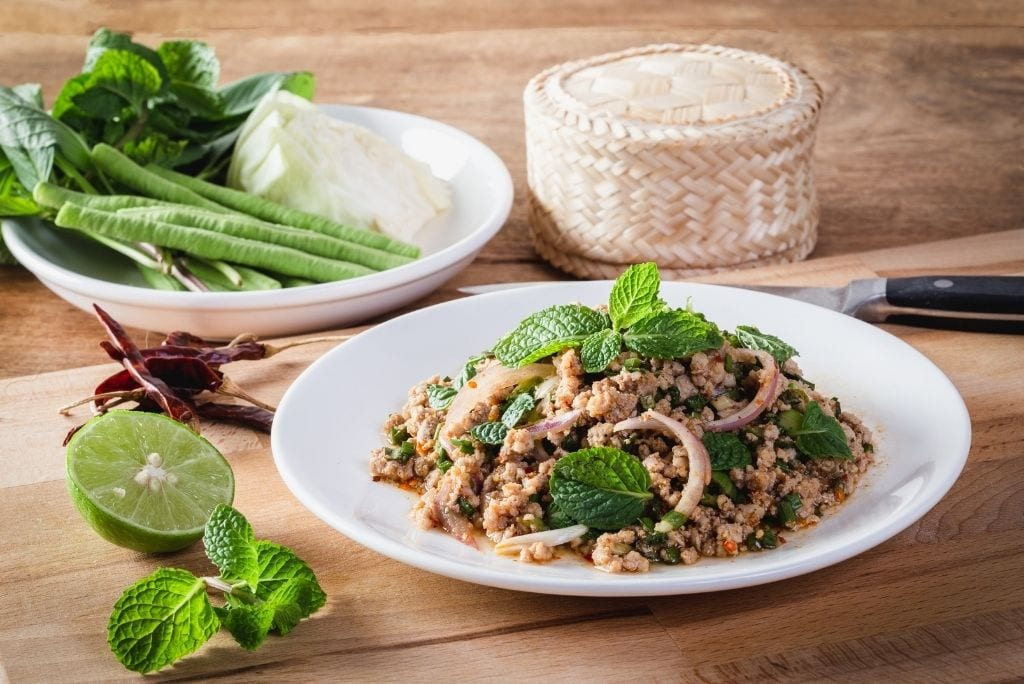Laab - Minced Meat Salad with Herbs (ลาบ)