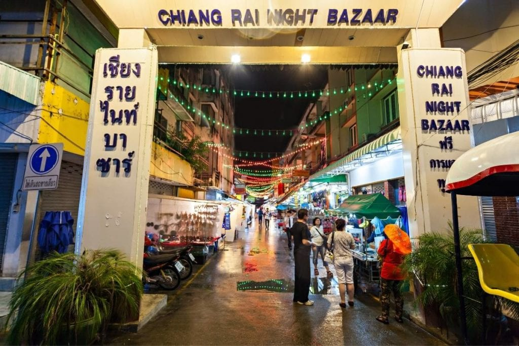 The entrance to Chiang Rai Night Bazaar