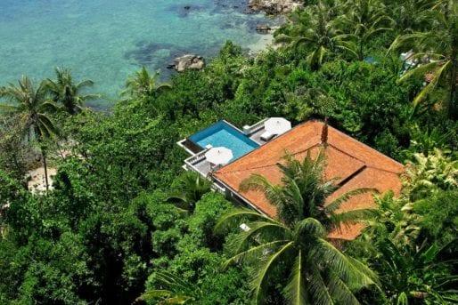 Aerial view of Trisara - luxury hotel in Phuket